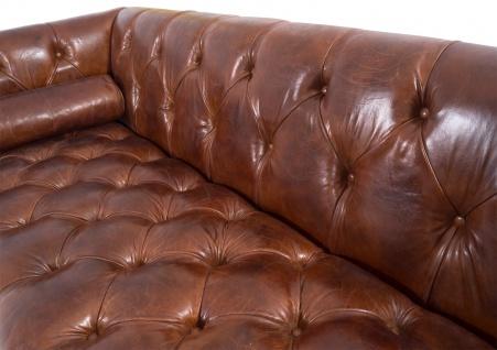 Chesterfield Glasgow - 3-Sitzer Sofa - Leder Vintage Cigar - Vorschau 3