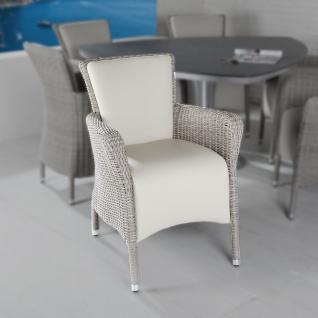Armlehnenstuhl Florentina Grey Cane Polyrattan yachtbezug-Bezug Armchair Stuhl Gartenstuhl
