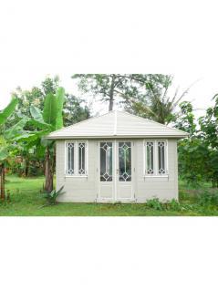 Gartenhaus Casalino Gazebo Mahagoni Holzhaus Geräteschuppen Blockhaus mint