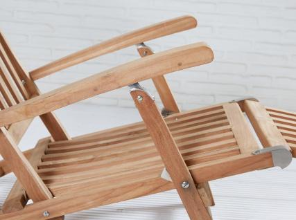 Teakholz Deckchair Kampen Sonnenliege Gartenliege Liegestuhl Teak Teakstuhl - Vorschau 4