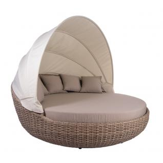 Liegeinsel Atlantic White Pepper Lounge Gartenlounge Gartenmöbel Sunlounger Sonneninsel