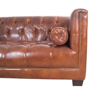Chesterfield Glasgow - 3-Sitzer Sofa - Leder Vintage Cigar - Vorschau 2