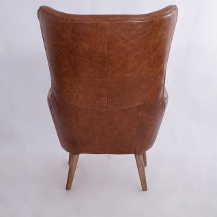Ohrensessel Exeter Vintage Leder Montaigne Brown - Vorschau 4