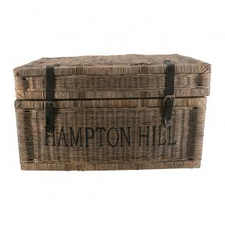 Korbtruhe Hampton Hill Korb Rattan Rattankorb Naturrrattan Geflecht