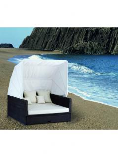 Liegeinsel Beach Lounge Schwarz