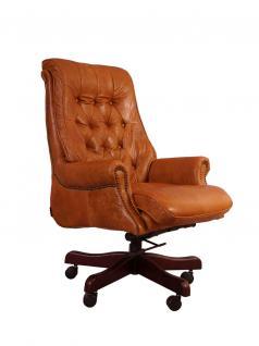 Bürosessel Belford Columbia Brown Vintage Leder