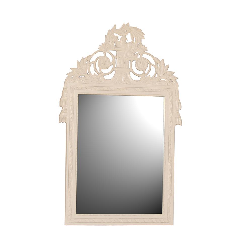 Wandspiegel / Spiegel Mask weiß Landhaus Diele Standspiegel - Kaufen ...