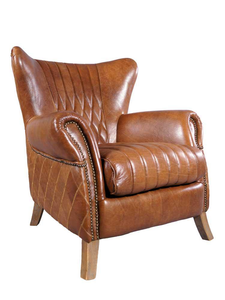 ohrensessel enfield vintage leder whiskey brown. Black Bedroom Furniture Sets. Home Design Ideas