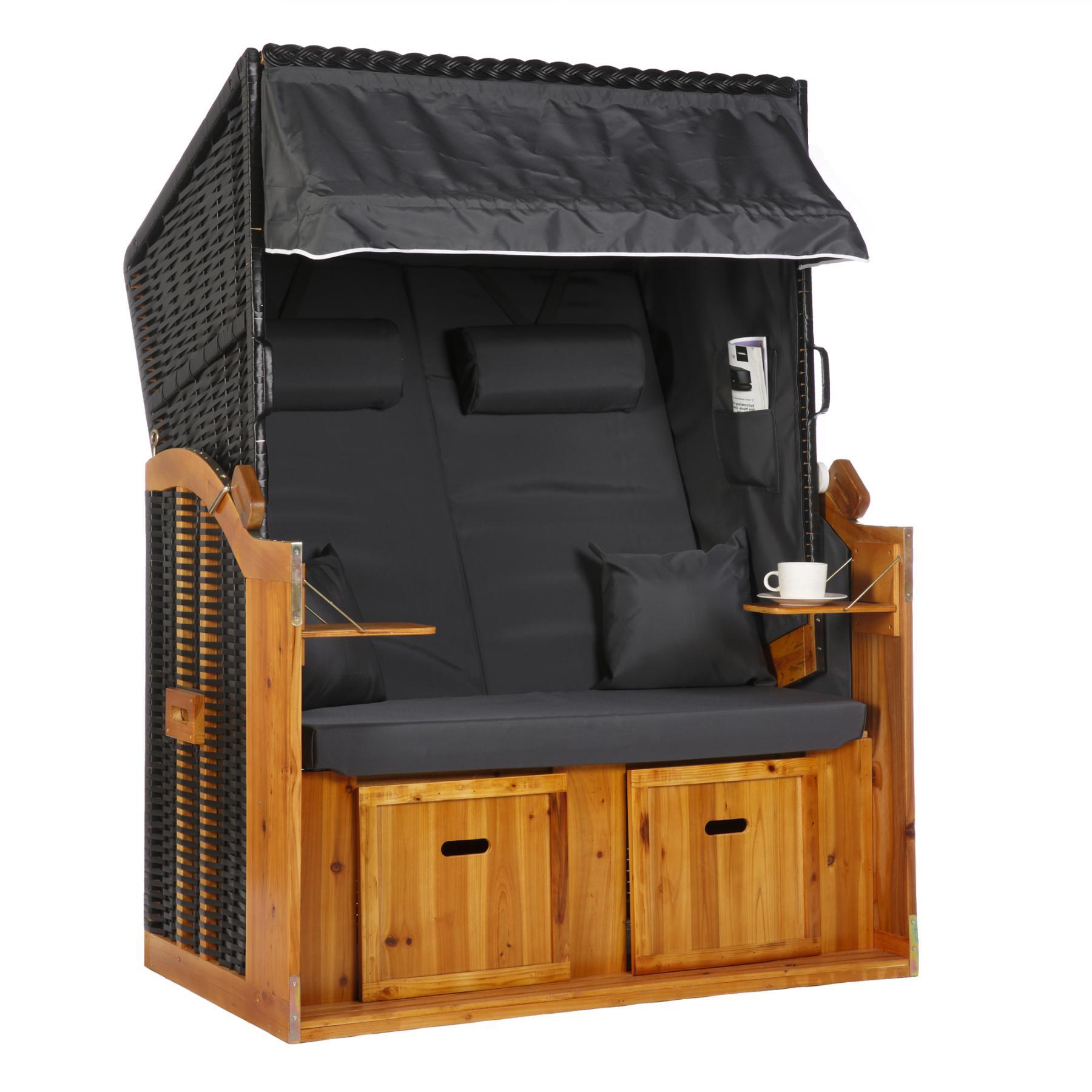 strandkorb volllieger grau rugbyclubeemland. Black Bedroom Furniture Sets. Home Design Ideas