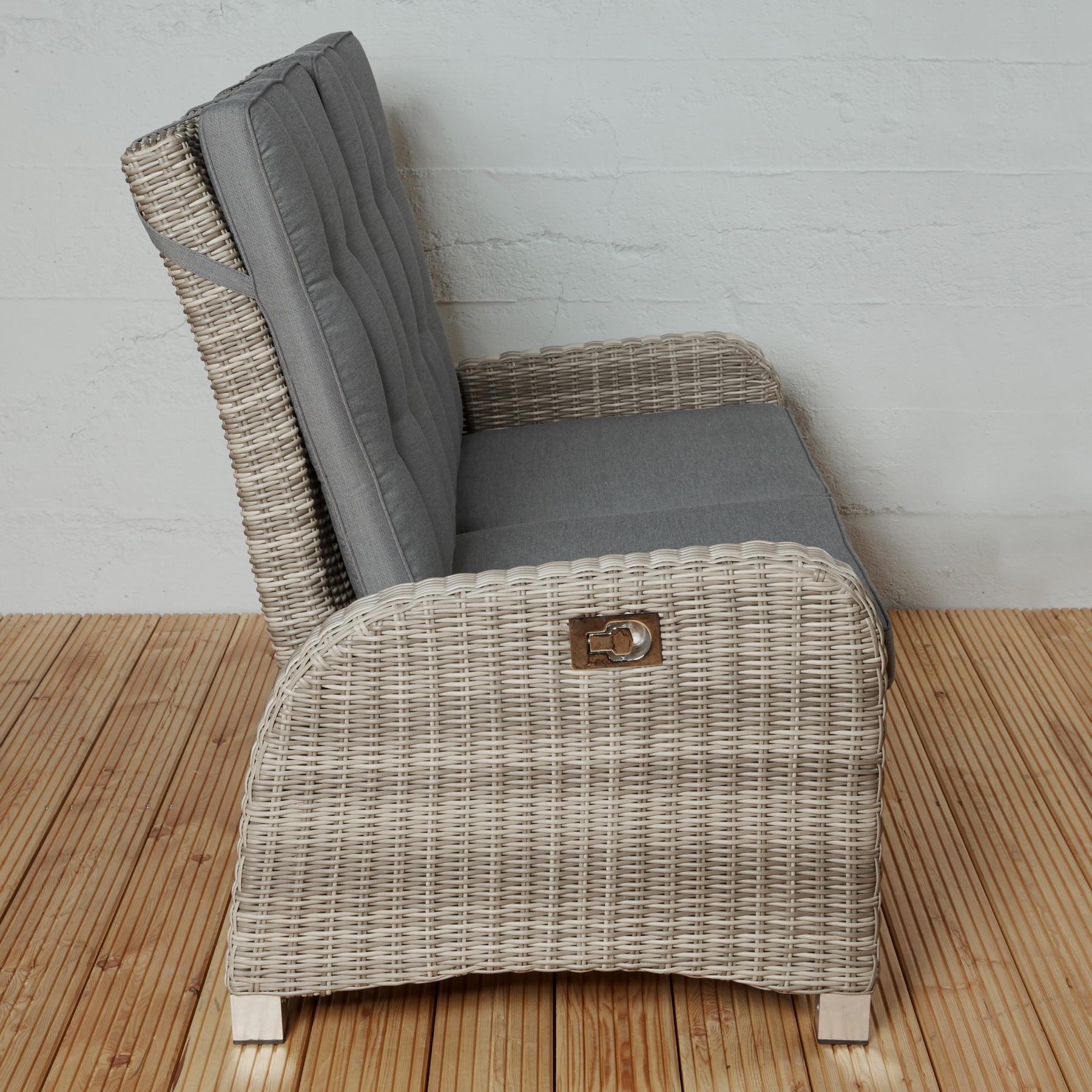 2 sitzer gartensofa rabida champagner loungesofa sofa. Black Bedroom Furniture Sets. Home Design Ideas