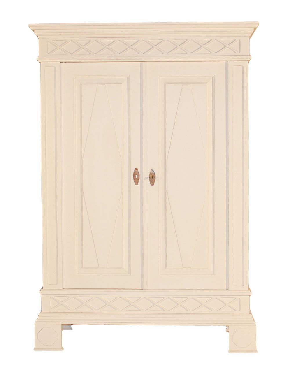 Landhausmöbel Garderobenschrank Nappo Holz Weiß Landhaus