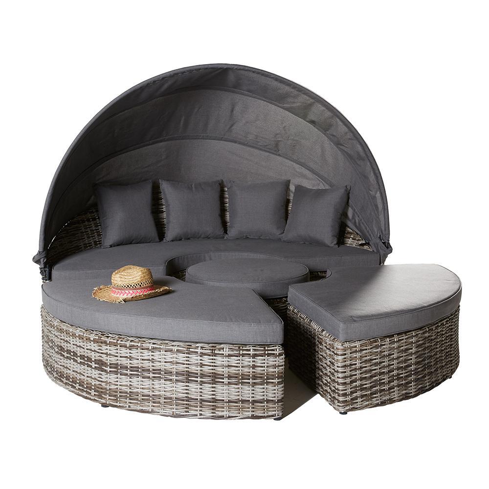 liegeinsel sevilla ii vintage braun sonnenliege muschel. Black Bedroom Furniture Sets. Home Design Ideas