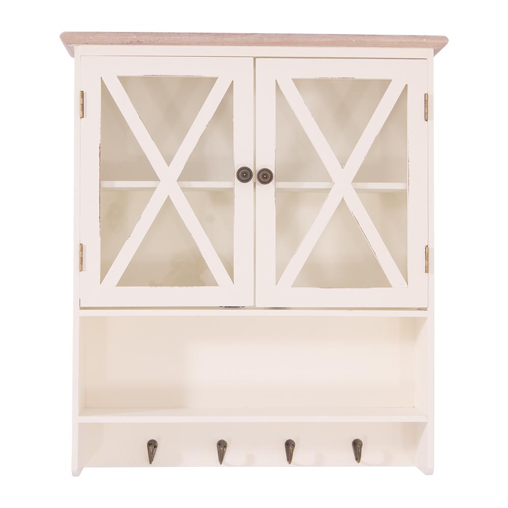 wandregal florence landhaus regal stil k chenregal holz vintage look wei kaufen bei mehl. Black Bedroom Furniture Sets. Home Design Ideas