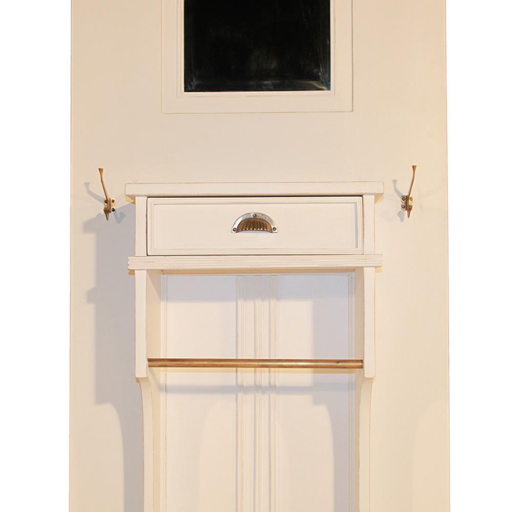 garderobe yves holz vintage look wei kaufen bei mehl. Black Bedroom Furniture Sets. Home Design Ideas
