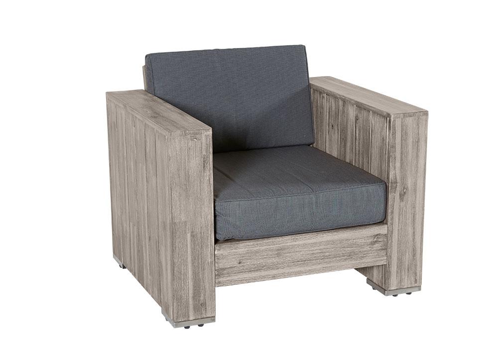 Rattan wohnlandschaft bali  Loungegruppe Bali grau Akazienholz Palettenmöbel komplett montiert ...