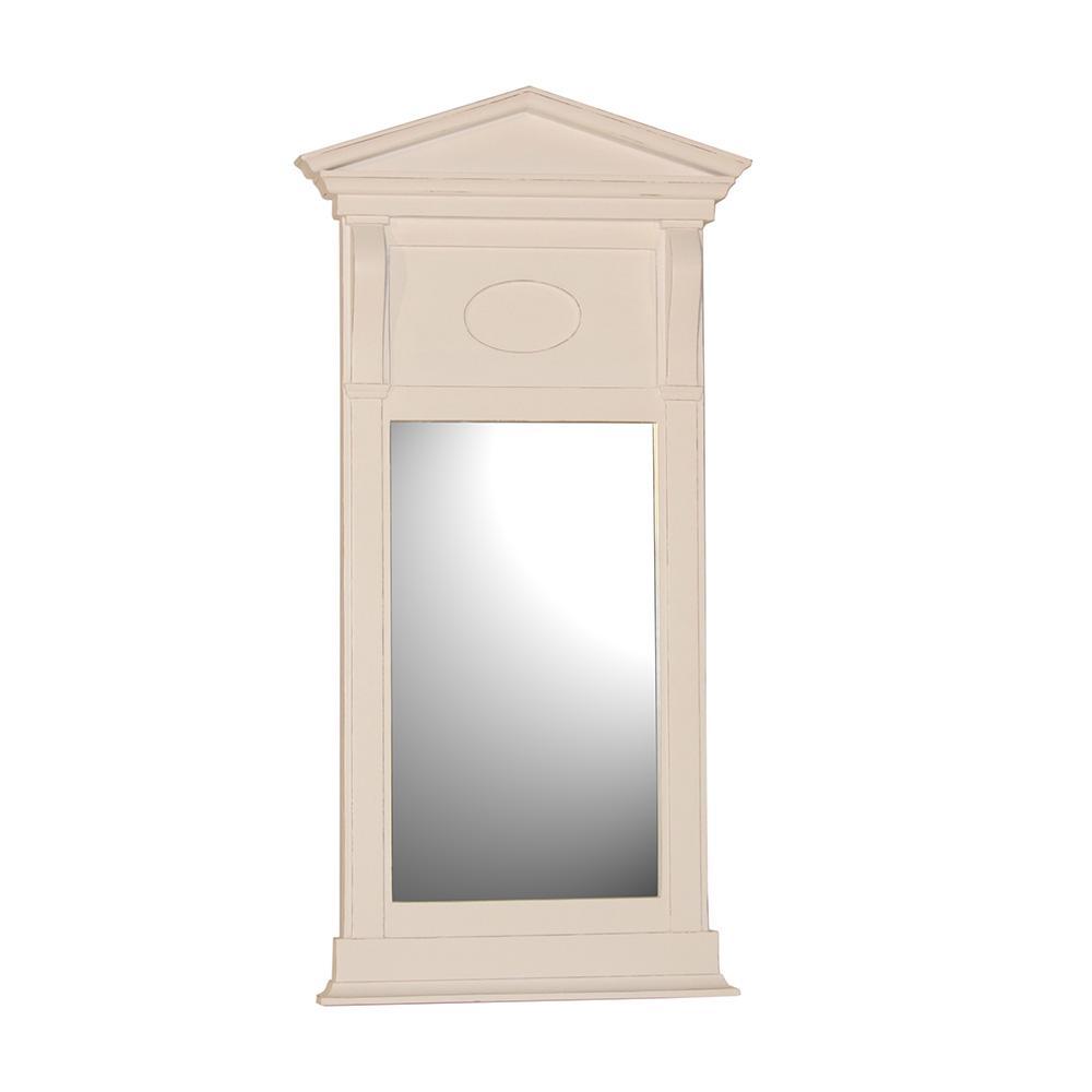 Wandspiegel / Spiegel Giebel weiß Landhaus Diele Standspiegel ...