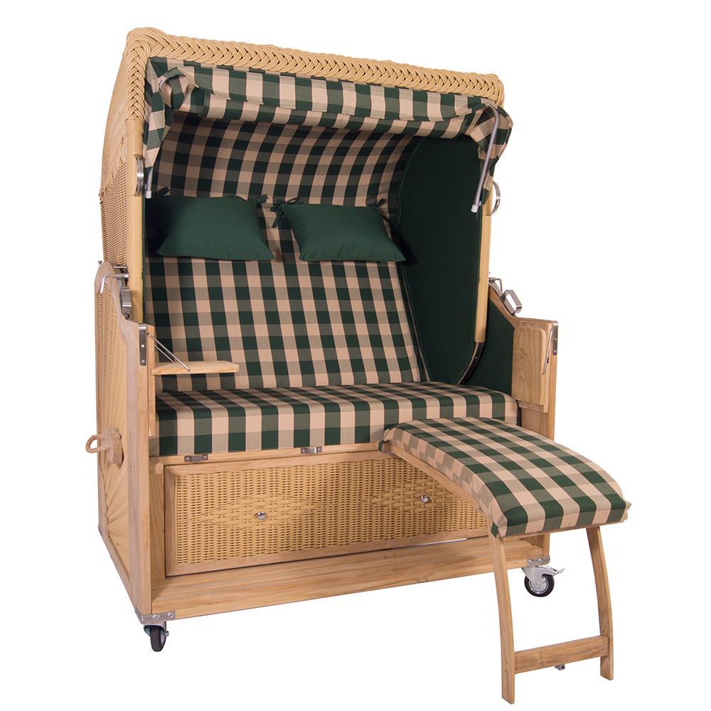 luxus strandkorb kampen 2 5 sitzer 48106 teakholz. Black Bedroom Furniture Sets. Home Design Ideas