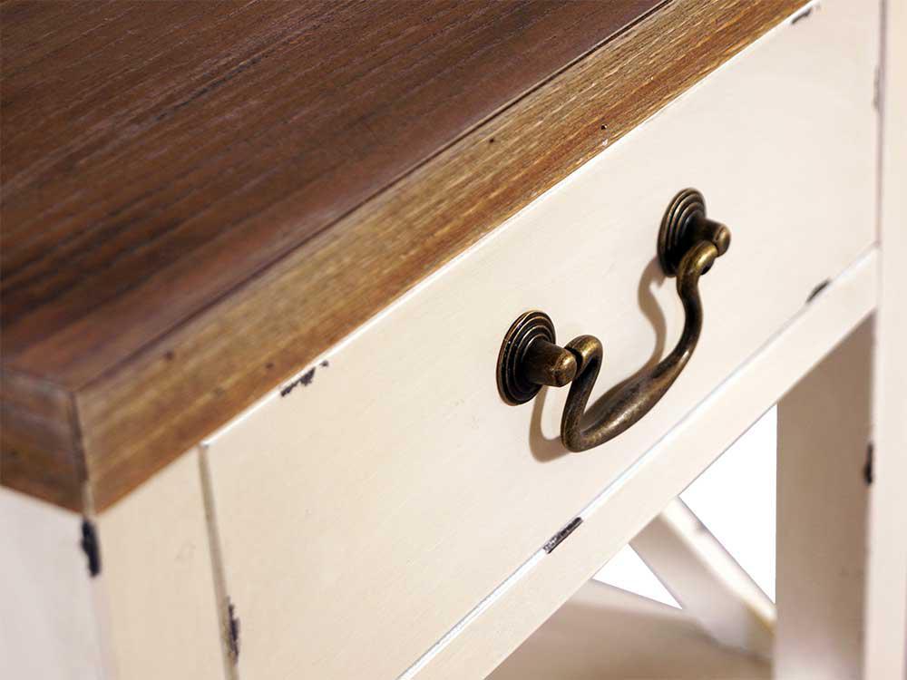 standregal loire mit schublade landhaus stil holz vintage look creme wei kaufen bei mehl. Black Bedroom Furniture Sets. Home Design Ideas