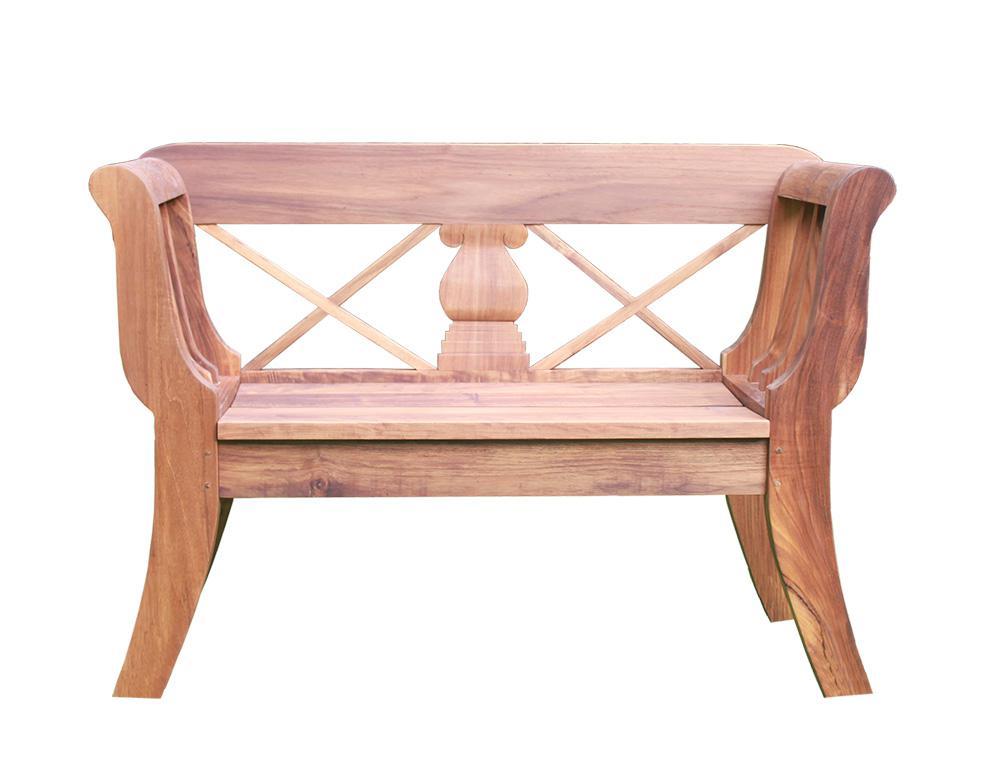 teakholz biedermeier bank ca 130 cm teak gartenbank sitzbank vollholz kaufen bei mehl wohnideen. Black Bedroom Furniture Sets. Home Design Ideas