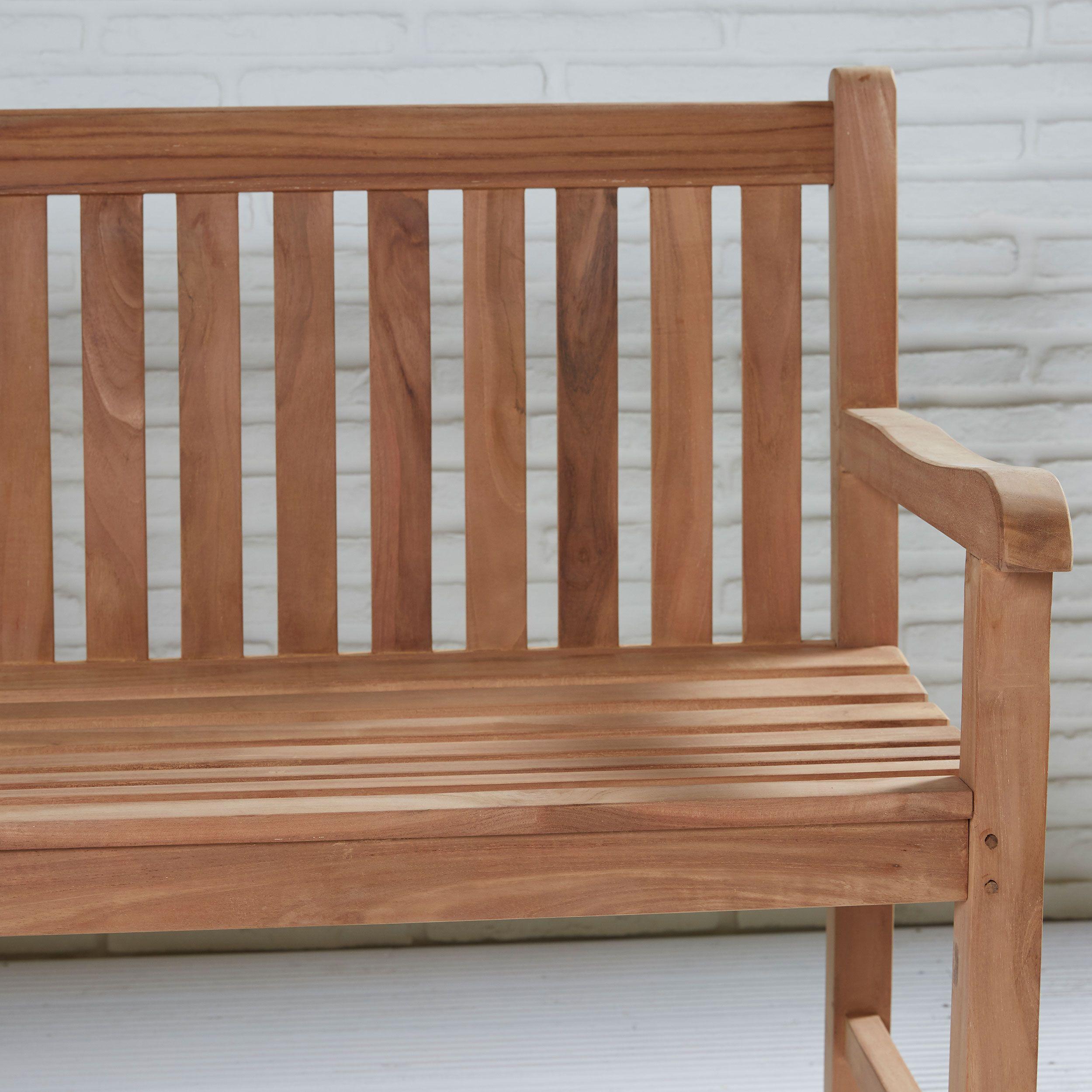 teakholz gartenbank kampen ca 150 cm teak m bel komplett montiert bank holzbank kaufen bei. Black Bedroom Furniture Sets. Home Design Ideas