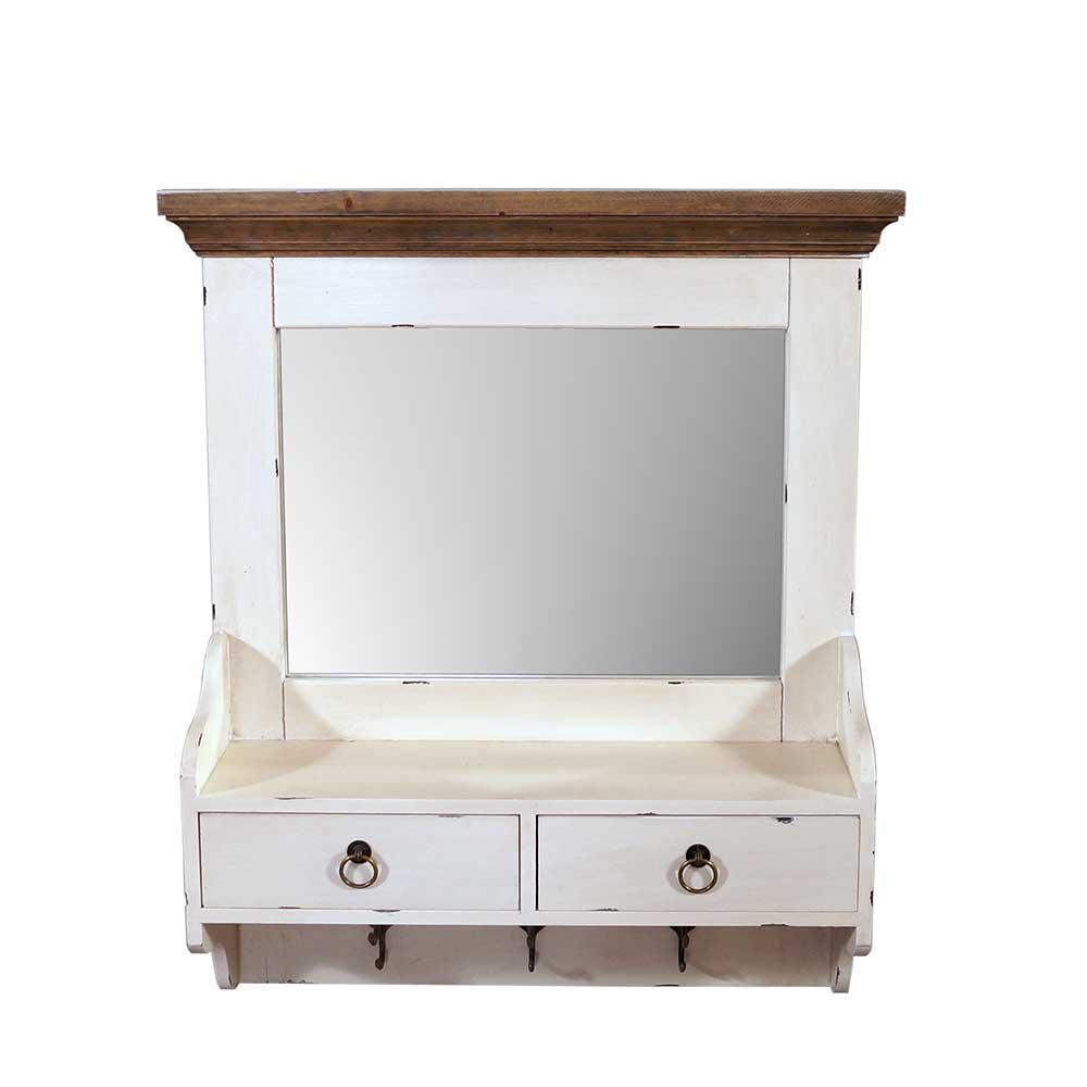 wandgarderobe provence mit spiegel landhaus stil holz 2. Black Bedroom Furniture Sets. Home Design Ideas