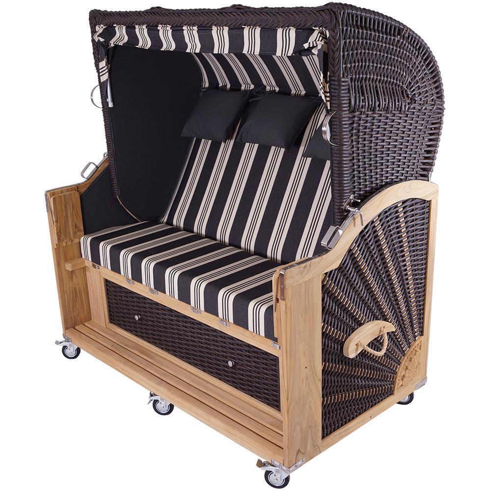 strandkorb kampen 3 sitzer mocca kaufen bei mehl wohnideen. Black Bedroom Furniture Sets. Home Design Ideas