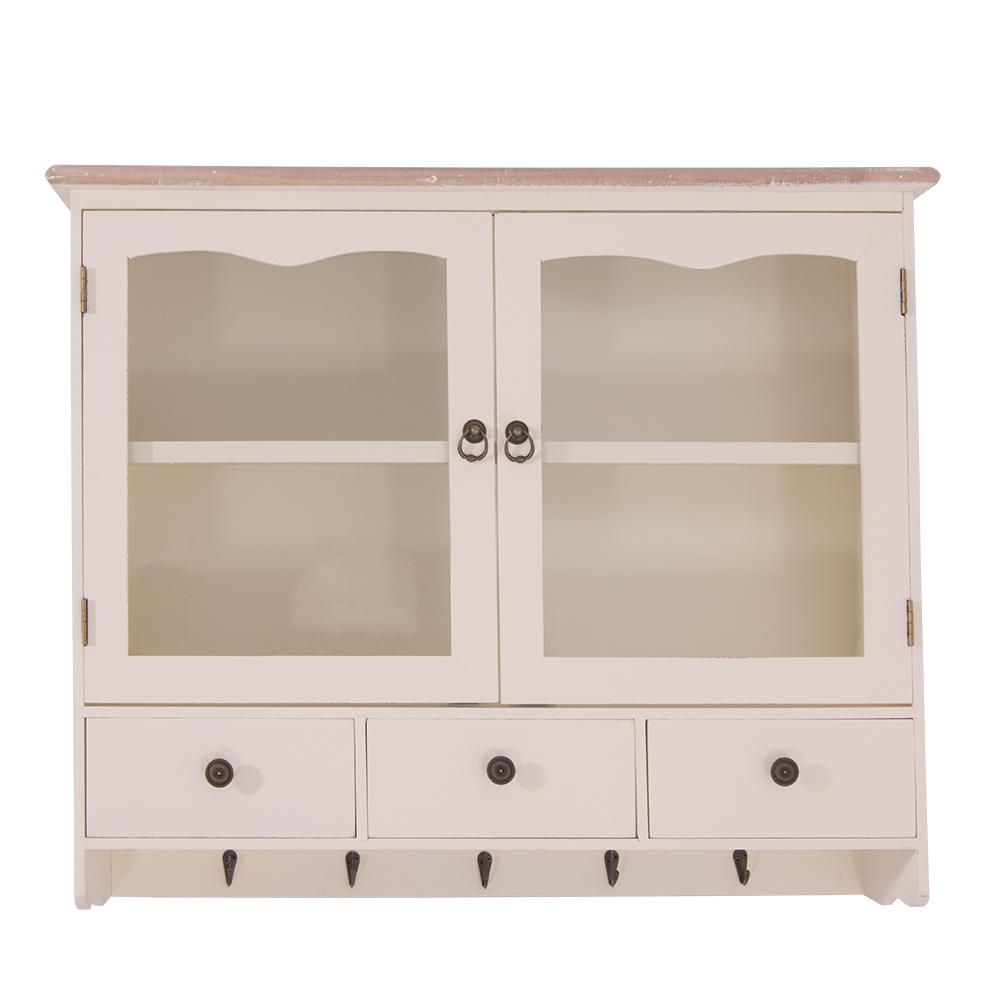 wandregal asti landhaus regal stil k chenregal holz vintage look wei kaufen bei mehl wohnideen. Black Bedroom Furniture Sets. Home Design Ideas
