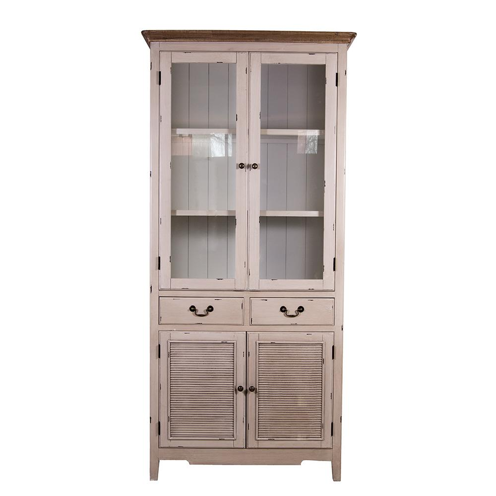 vitrinenschrank linde landhaus stil holz vitrine vintage. Black Bedroom Furniture Sets. Home Design Ideas