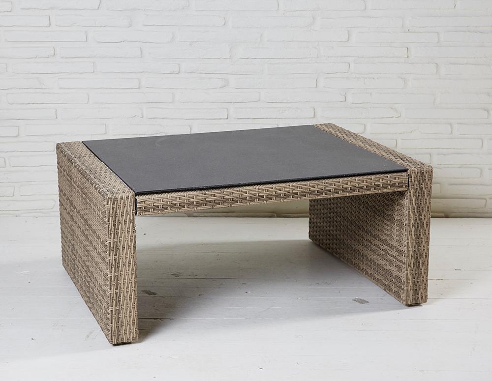 Couchtisch Natur Geflecht Turin Beistelltisch Coffee Table