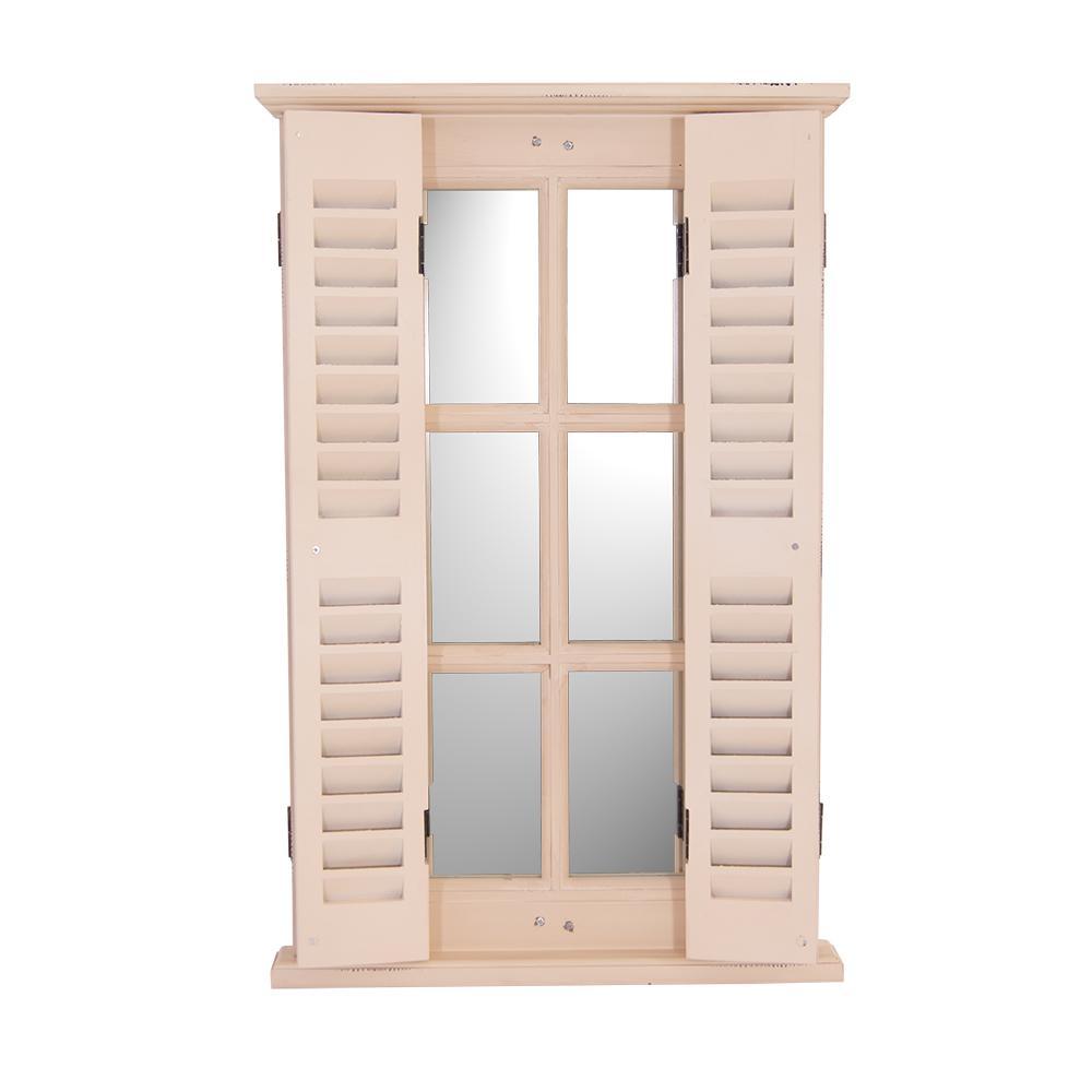 Spiegel karlum cremewei landhaus h ngespiegel wandspiegel deko flur diele fensterrahmen - Deko wandspiegel ...