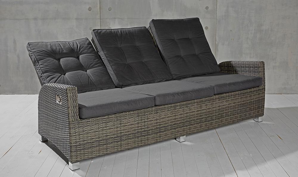 3 sitzer gartensofa barcelona grau mix loungesofa sofa. Black Bedroom Furniture Sets. Home Design Ideas