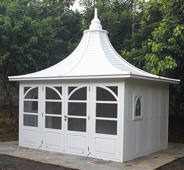 Gartenhaus Bothy Gazebo Mahagoni Holzhaus Geräteschuppen