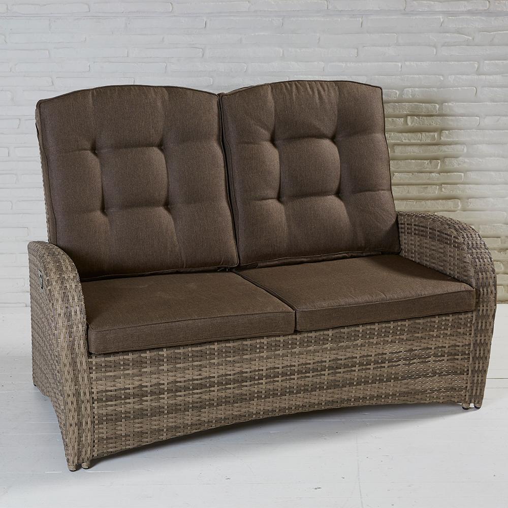 2-sitzer living sofa turin rabida natur geflecht polyrattan