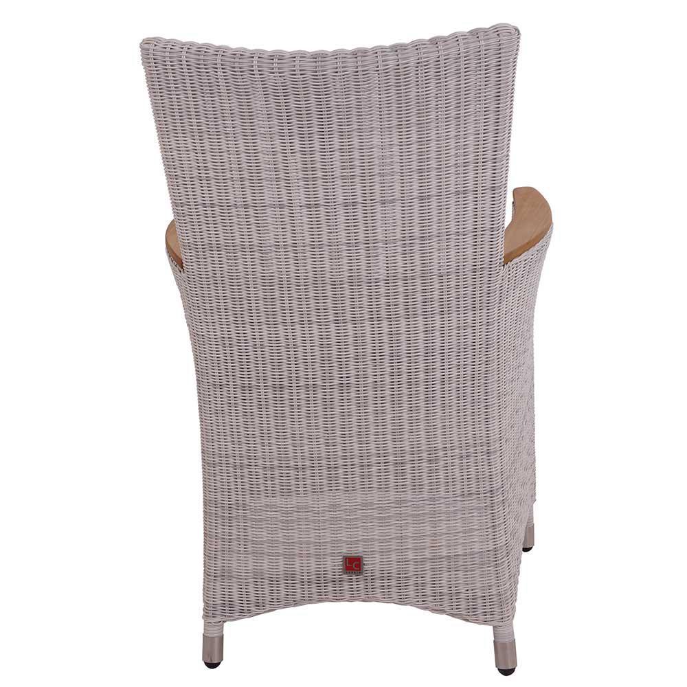 armlehnenstuhl chelsea white wash geflecht mit fu hocker. Black Bedroom Furniture Sets. Home Design Ideas