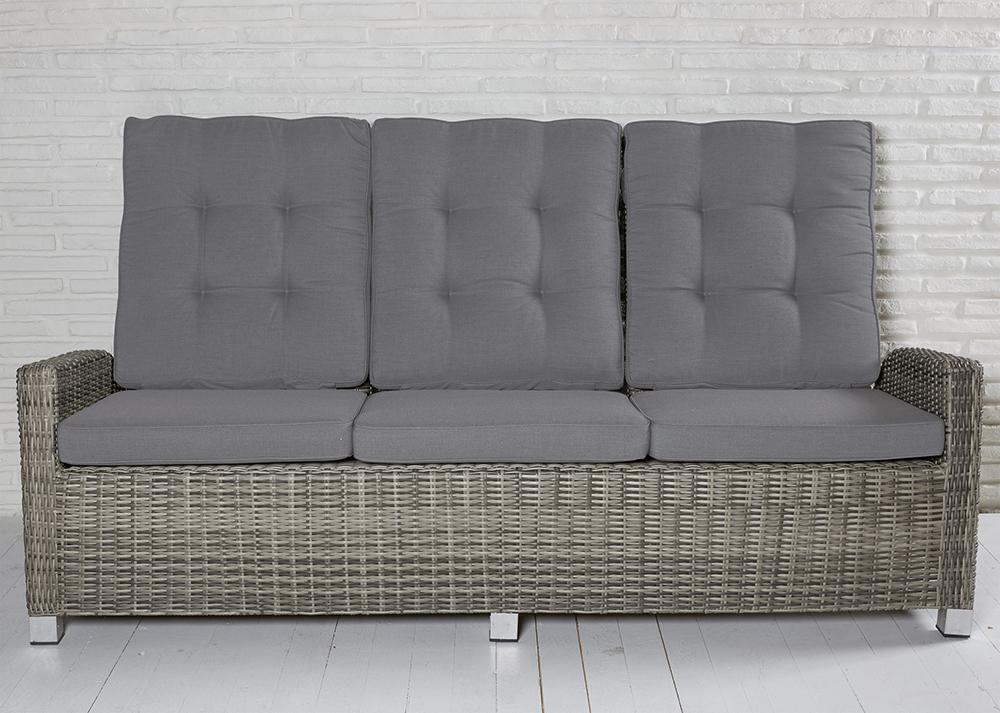 3 sitzer gartensofa ibiza champagner loungesofa sofa. Black Bedroom Furniture Sets. Home Design Ideas