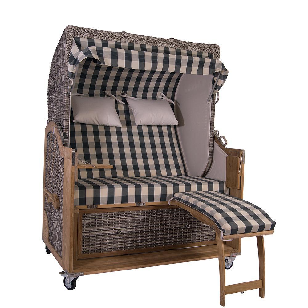 strandkorb kampen 2 5 sitzer white oak 48108 kaufen bei mehl wohnideen. Black Bedroom Furniture Sets. Home Design Ideas