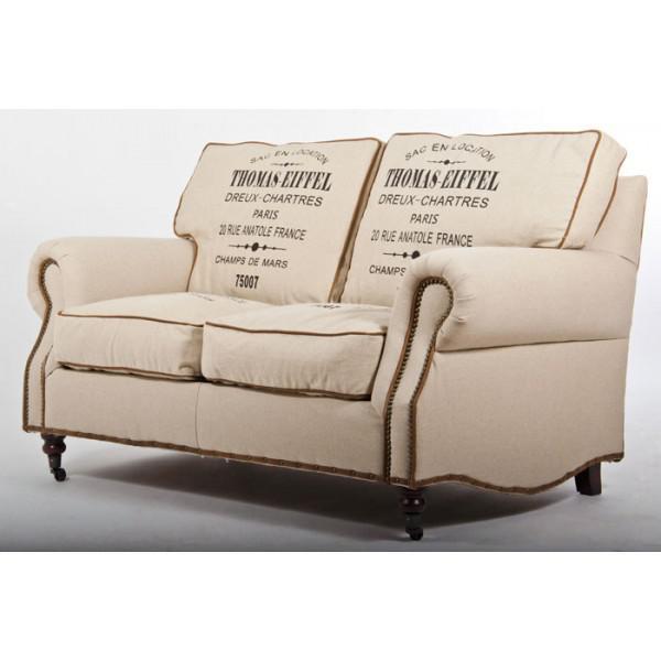 classic sofa eiffel vintage leinen 2 sitzer kaufen bei. Black Bedroom Furniture Sets. Home Design Ideas