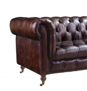 Chesterfield Ledergarnitur Mansfield 3-Sitzer, 2-Sitzer und Sessel 3+2+1 - Vorschau 4