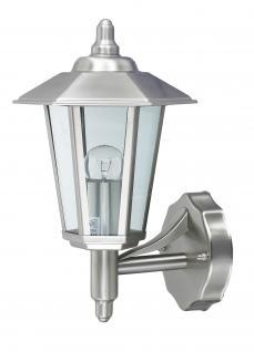 Wandlampe Außenleuchte Außenlampe Kandelaber Edelstahl IP44 LED geeignet Wandleuchte Lampe