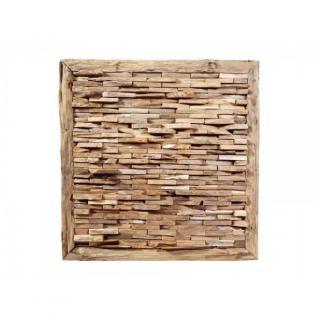 """Teakholz-Deko Bild """"Bricks"""" 70x70 cm"""