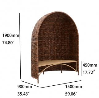 Strandmuschel Caramel mit Sitzbank inkl. Sitzpolster in cremeweiß - Vorschau 4