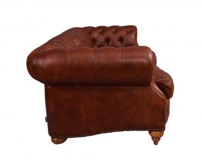 Castlefield Montaigne Brown Sofa 3-Sitzer Chesterfield-Stil - Vorschau 3