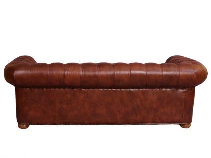 Castlefield Montaigne Brown Sofa 3-Sitzer Chesterfield-Stil - Vorschau 4