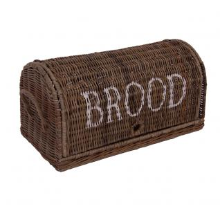 Brotbox Brood groß Rattankorb Brotkorb Aufbewahrung Naturrattan