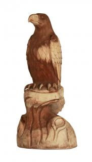 Wohndekoration Vogelskulptur Adler aus Teakholz
