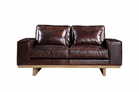 Loungesofa Hamilton 2-Sitzer Vintage-Leder - Vorschau 2