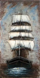 Handgefertigtes Metallbild Sailing II ca. 70x140 cm Kunst Bild 3D-Optik Wandbild