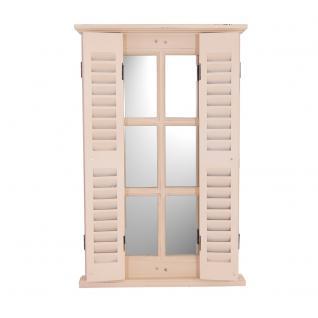 Spiegel Karlum cremeweiß Landhaus Hängespiegel Wandspiegel Deko Flur Diele Fensterrahmen - Vorschau 2