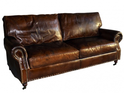 Loungesofa Wales 3-Sitzer Vintage-Leder