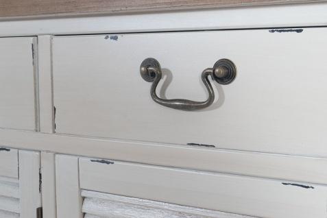Kommode Bretagne XL 3 Türen Holz Vintage Look creme weiß - Vorschau 5